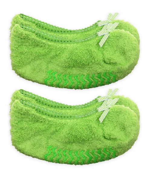 Fuzzy Footie Slippers 2 pairs