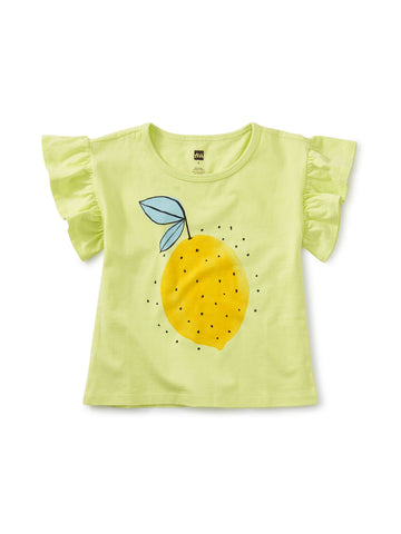 Lemon Fress Flutter Sleeve Tee