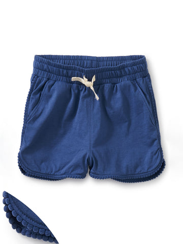 Pom-Pom Shorts in Cobalt