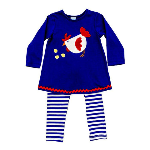 Rooster Applique Tunic and Leggings