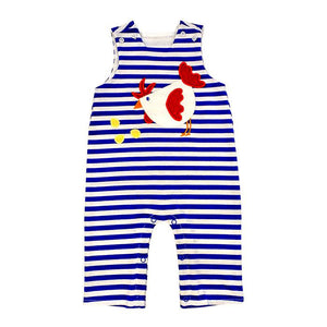Rooster Applique Knit John John