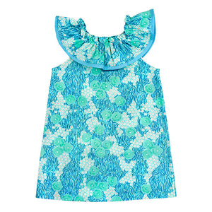 Kiki Turquoise Print Dress