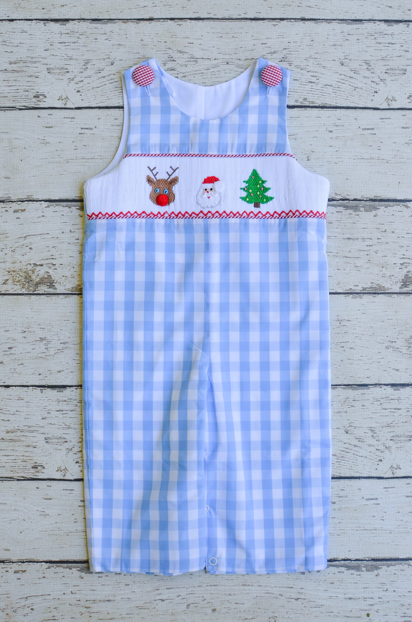 Reindeer Games Smocked Boys Longall