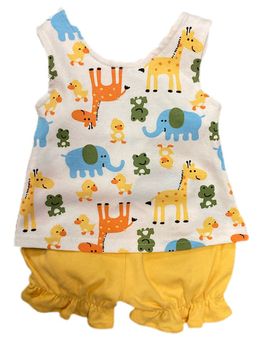 Zoo Animals Crossback Bloomer Set