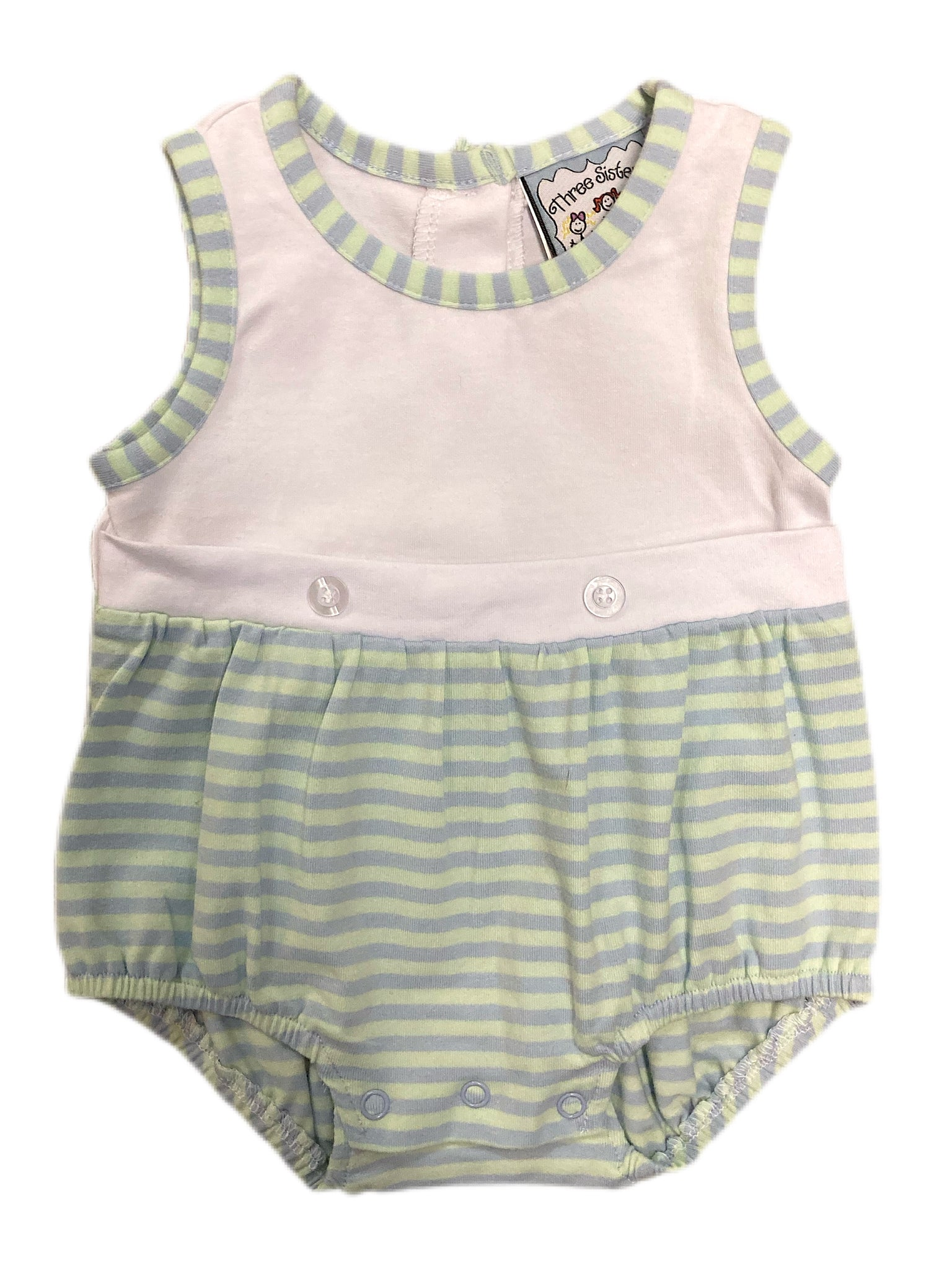 Noah Mint and Blue Stripe Knit Bubble
