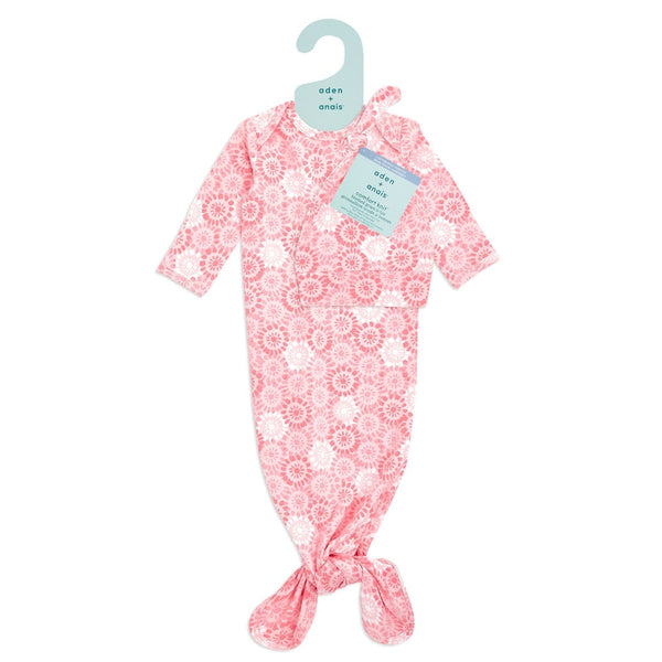 Sunburst Confort Knit Gown and Hat Gift Set 0-3 months