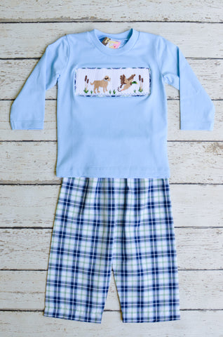 Duck Hunt Smocked Boys Pant Set