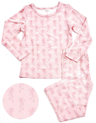 Ballet Slippers 2 piece Bamboo Loungewear Set