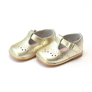 Birdie Gold Toddler T-Strap