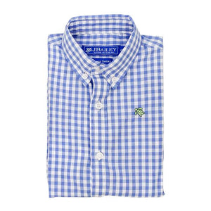 Medium Blue Check Button Down Shirt