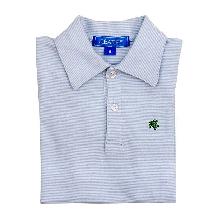 Light Blue Stripe Polo