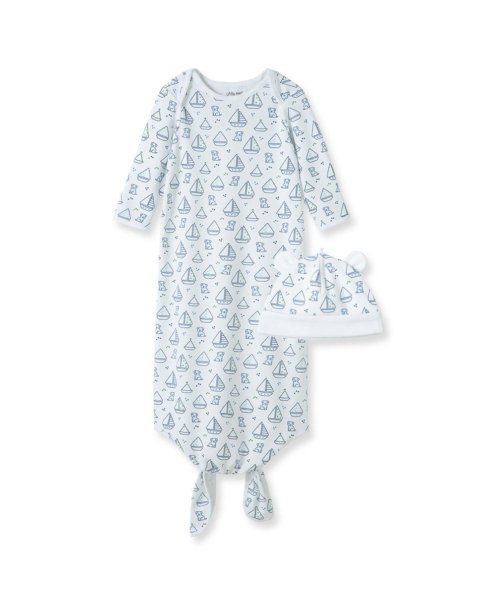 Boating Buddies Knot Sleeper Gown and Hat
