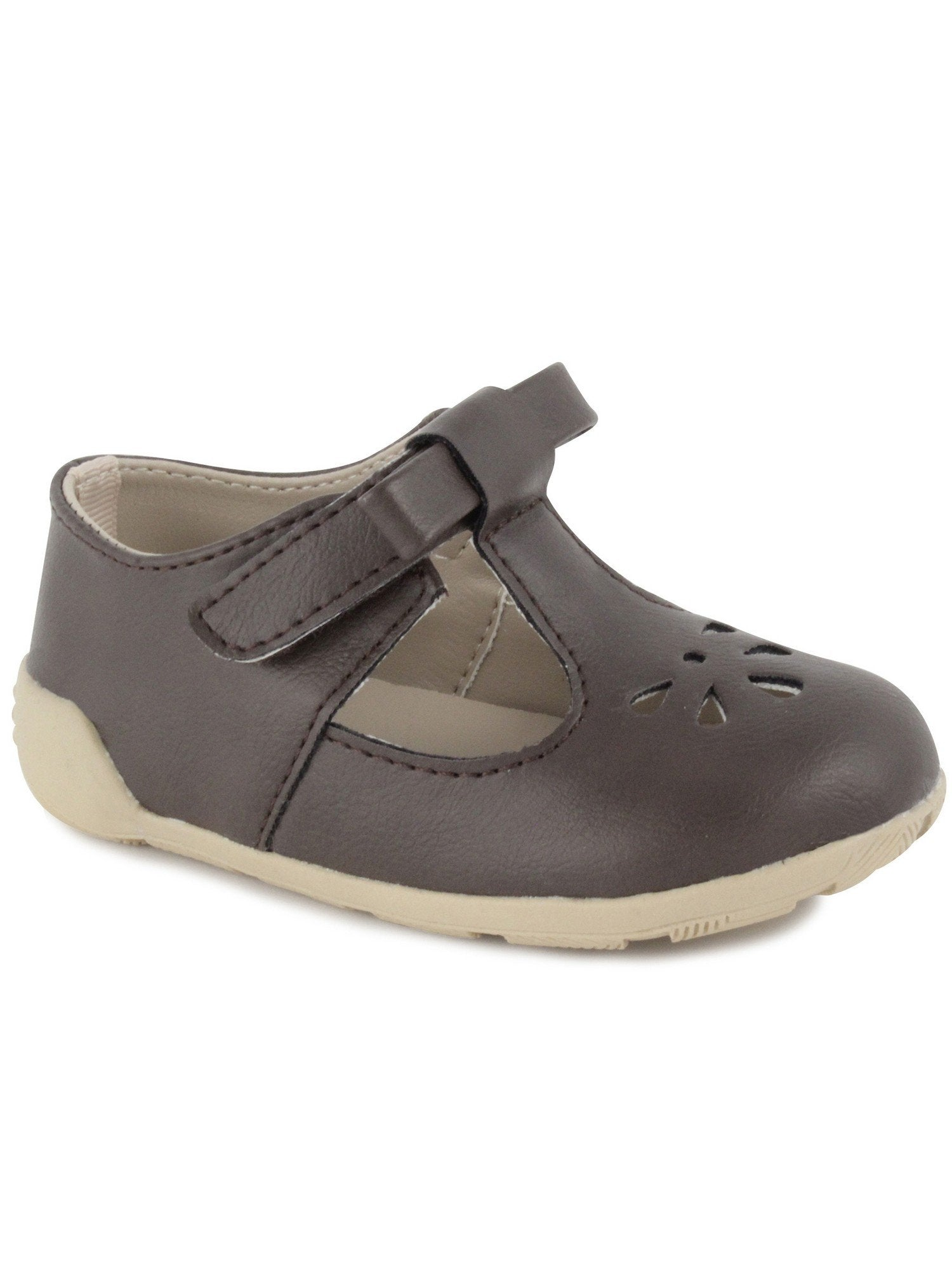 Brynna Classic Brown T-Strap Perforated Maryjane