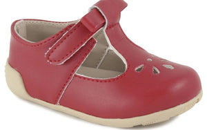 Brynna Classic Red T-Strap Perforated Maryjane