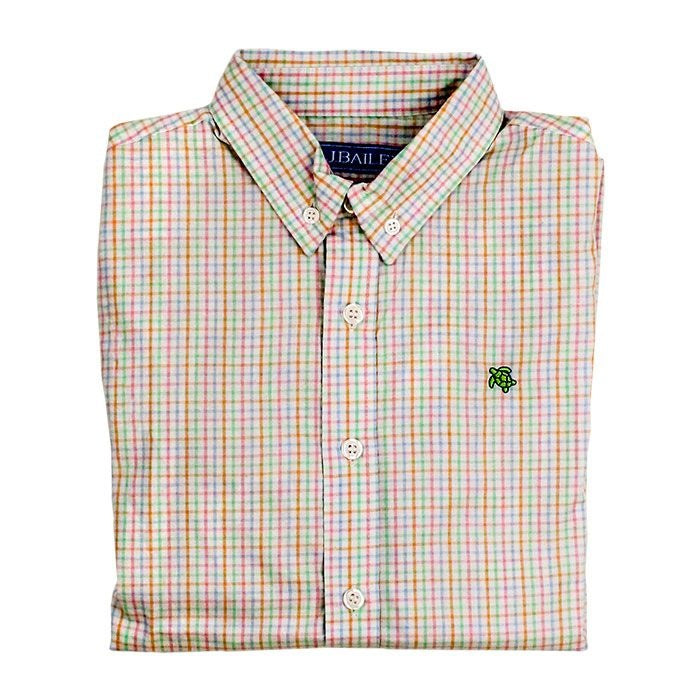 Easter Basket Plaid Button Down Shirt