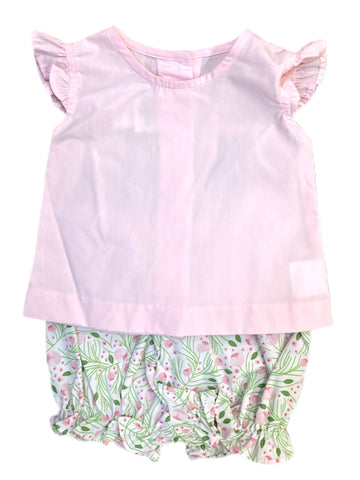Rosie Blouse with Pinkly Floral Bloomer Set