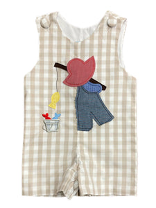Gone Fishing Dutch Boy Applique  Shortall