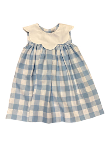 Blue and White Buffalo Check Float Dress