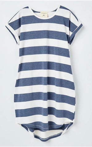 Scoop Neck Stripe Knit Dress