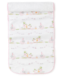Noah's Print Pink Burp Cloth