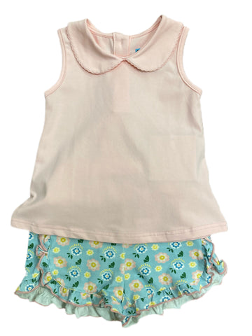 Swing Top with Floral Shorts Set