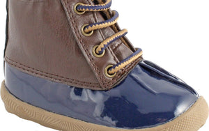 Jude Navy and Brown Duck Boot