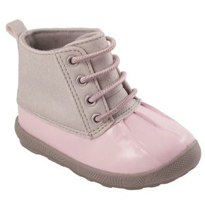 Jude Pink and Silver Duck Boot