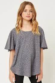 Stone Washed Leopard Tee