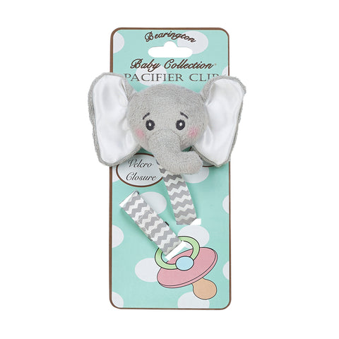 Lil' Spout Gray Elephant Pacifier Clip