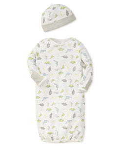 Tiny Dinos Sleeper Gown and Hat
