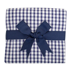Navy Check Fabric Burp