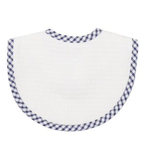 Navy Check Pique Basic Bib