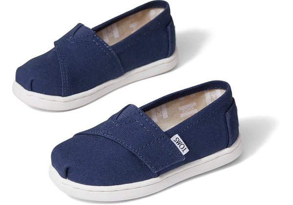 Navy Canvas Classic Tiny Toms