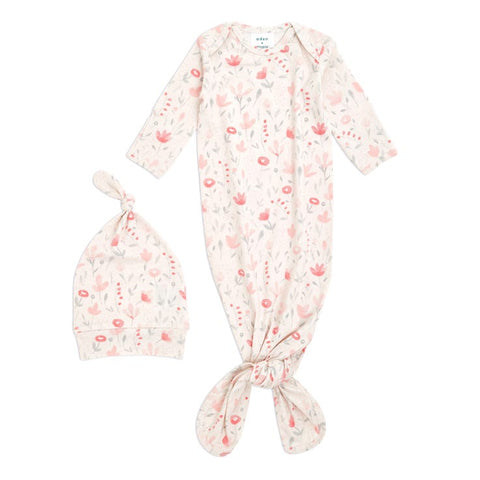 Perennial Comfort Knit Gown and Hat Gift Set 0-3 months