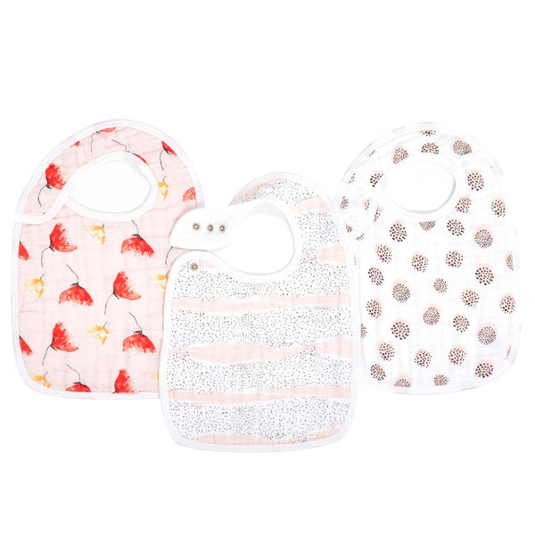 Picked for You Classic Snap Bibs 3pk