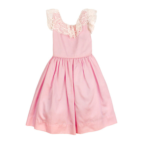 Pink Pearls Empire Dress