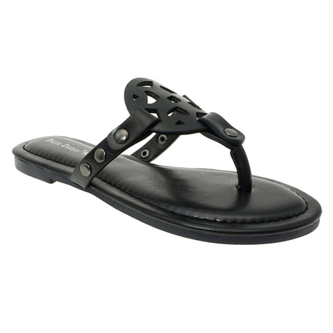 Slip on Sandal in Black