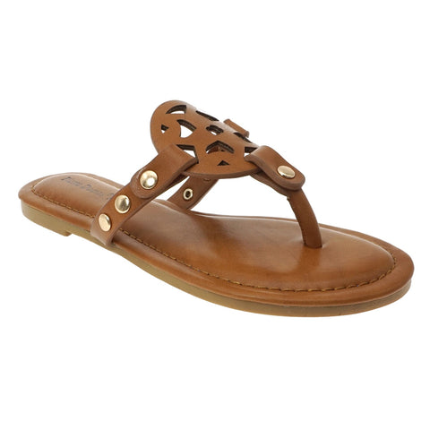 Slip on Sandal in Tan