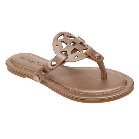 Slip on Sandal in Rose Gold