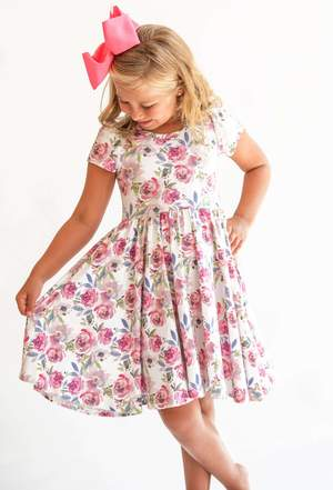 Violet Blossom Bamboo Twirl Dress