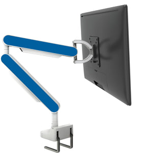 Zgo Technologies, Single Monitor Arm. White With Pink Side Panels.