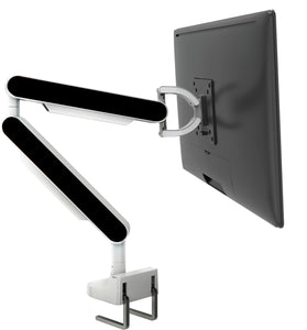 Zgo Technologies, Single Monitor Arm. White With Yellow Side Panels.