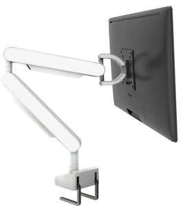 Zgo Technologies, Single Monitor Arm. White With Black Side Panels.