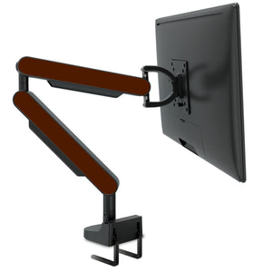 Zgo Technologies, Single Monitor Arm. Black With Brown Side Panels.