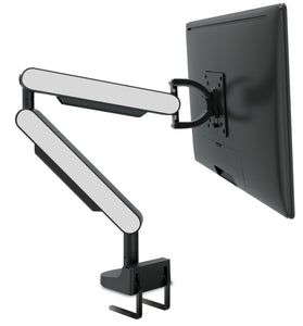 Zgo Technologies, Single Monitor Arm. Black With Silver Side Panels.