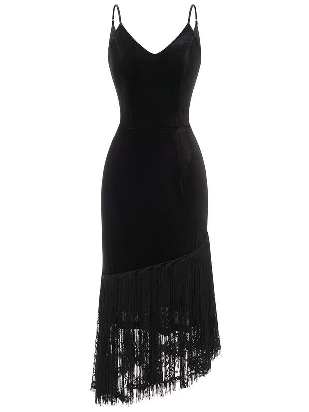 Dressystar Black Party Dress Sexy with Adjustable Straps