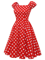 Dressystar Polka Dot Vintage 1950s Retro Cocktail Party Dress