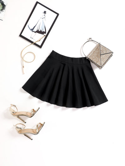 Basic Versatile Stretch Mini Bells Skirt