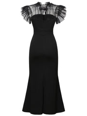 Dressystar Black Fomal Party Dress Pencil Dress