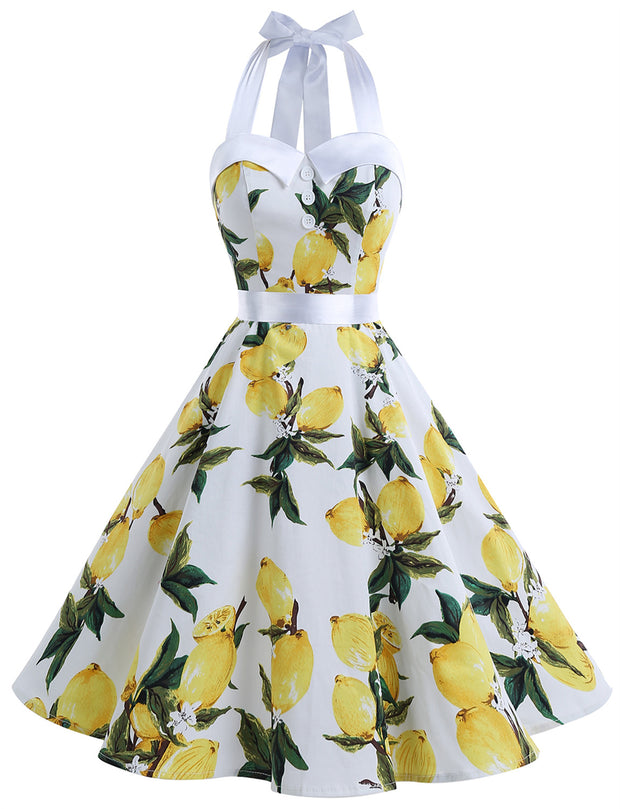 Lemon Retro 50's 60's Vintage Dress
